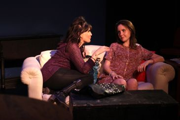 Lisa Melinn as Haley and Meredith Deighton as Leigh