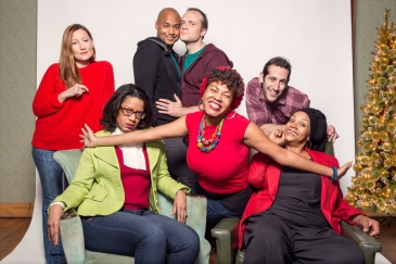The Cast, Left to Right: Maggie Meyer, Tracey Conyer Lee, Curtis Wiley, Christopher Corporandy, Shawntay Dalon, Artun Kircali, and Madelyn Porter