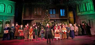 "Thomas D. Mahard and the Cast of ""A Christmas Carol"""