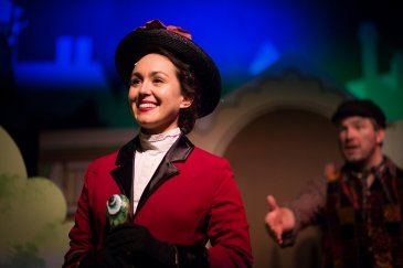 Olivia Hernandez as Mary Poppins and Sebastian Gerstner as Bert  All Photos by Michele Anliker Photography